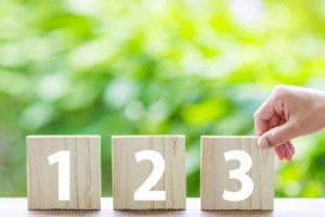 123の数字