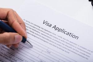 ビザ 申請書 記入