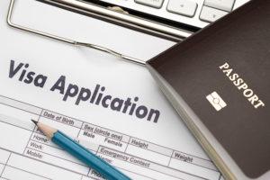 ビザ申請書の画像