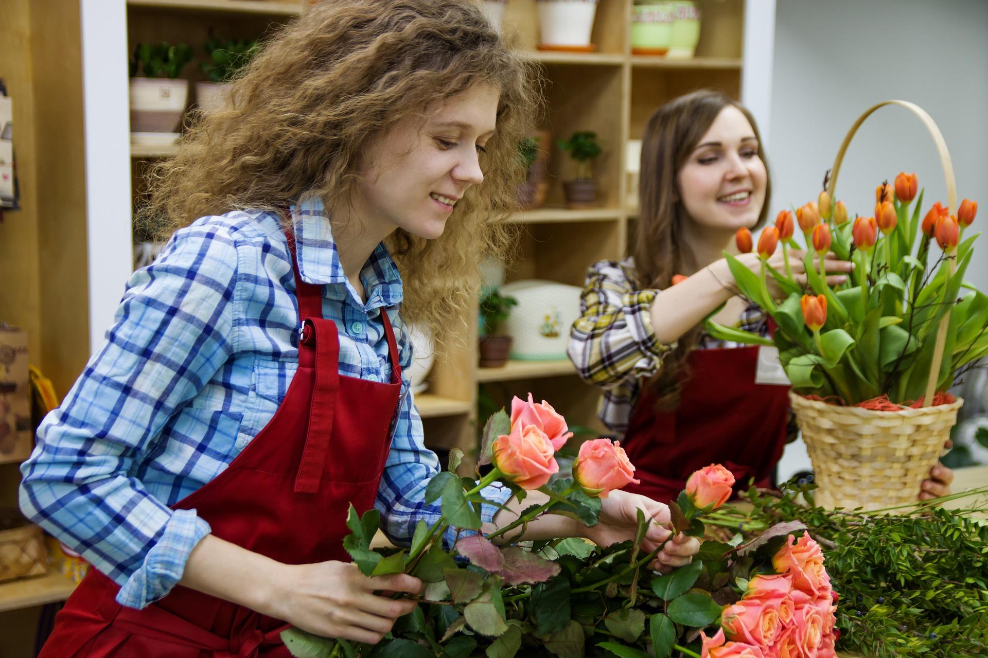花屋の外国人